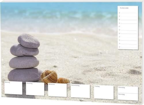Schreibunterlage Steine am Strand
