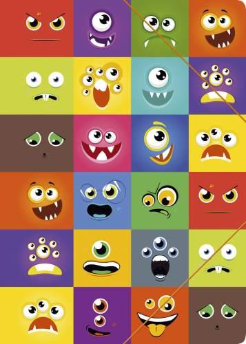 Zeichenmappe A4 Faces