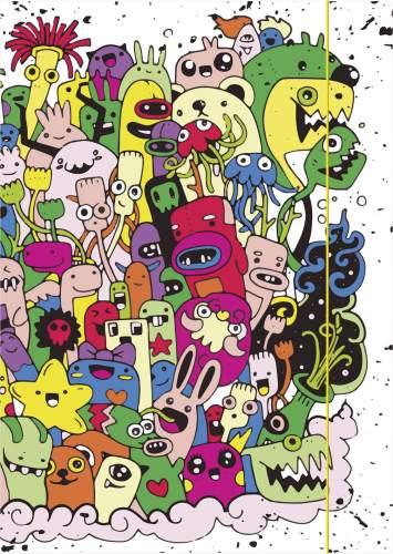 Zeichenmappe A4 Monster