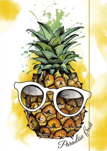 Zeichenmappe A4 Ananas