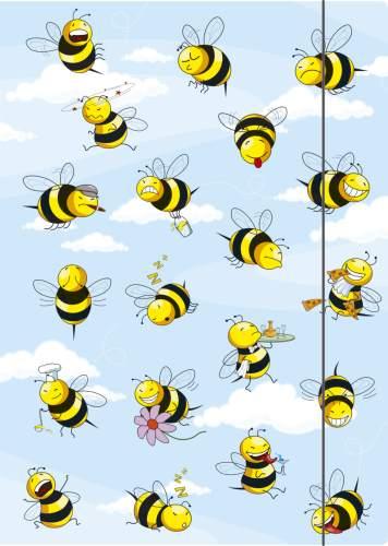 Zeichenmappe Crazy Bees