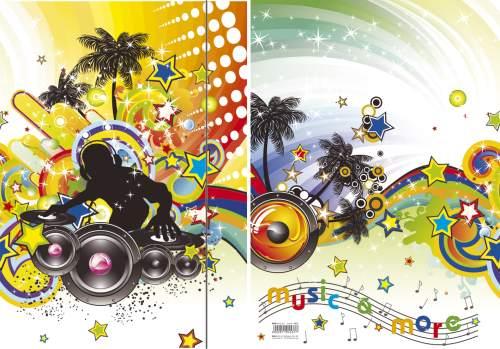 RNK Verlag Zeichnungsmappe/Sammelmappe Music, DIN A3