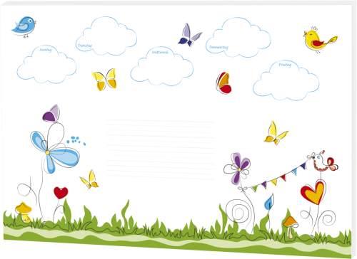 RNK Verlag Papier-Schreibunterlage Schmetterlinge, klein