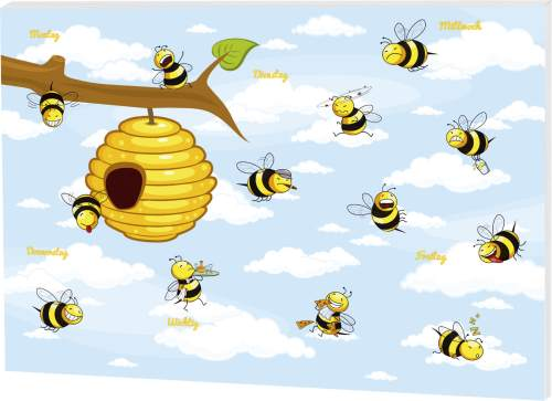 RNK Verlag Papier-Schreibunterlage Crazy Bees, groß