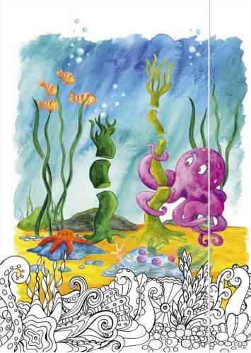 Gummizugmappe A3 Octopus