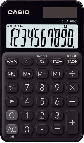 Taschenrechner 10-stellig schwarz