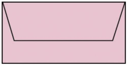 Briefhülle DL 5ST rosa