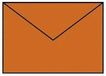 Briefhülle B6 5ST apfelsine