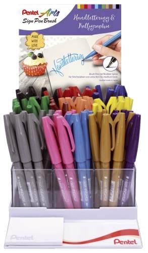 Faserschreiber Sign Pen Brush sort.