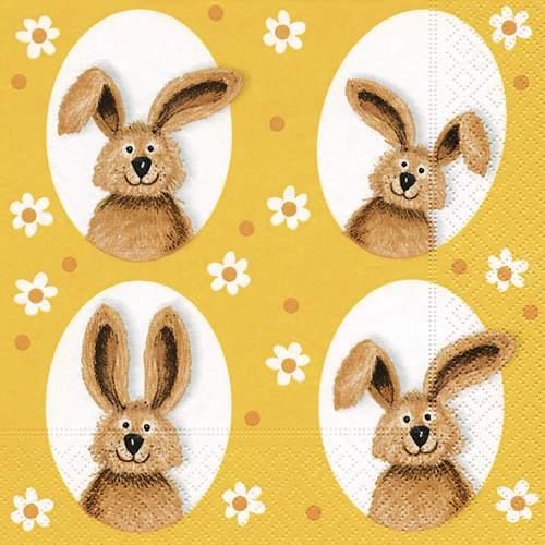 Paper+Design Oster-Motivservietten Bunnies in small flo...