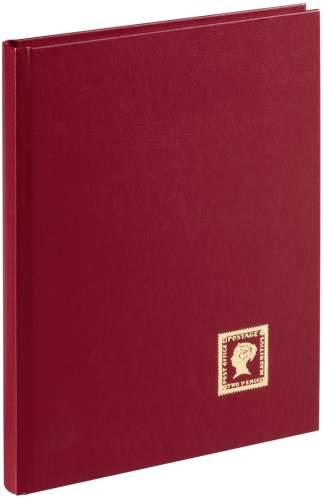 PAGNA Briefmarkenalbum, weinrot, DIN A5, 32 Seiten