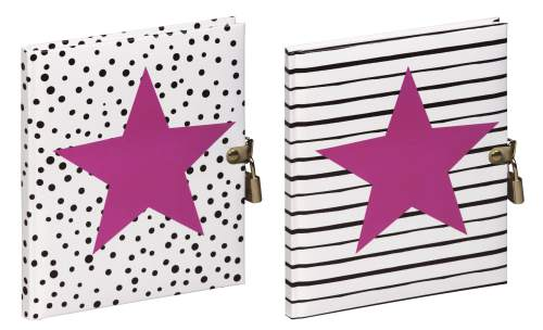 Tagebuch Pink Star sortiert