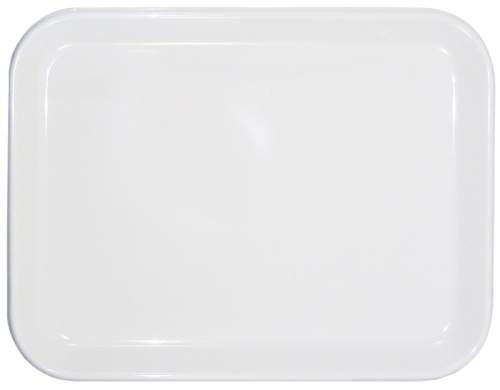 Tablett 20x15cm weiß  Kunststoff