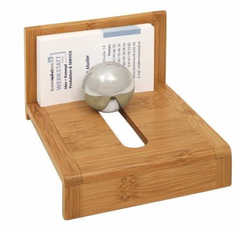 Visitenkartenhalter Bambus