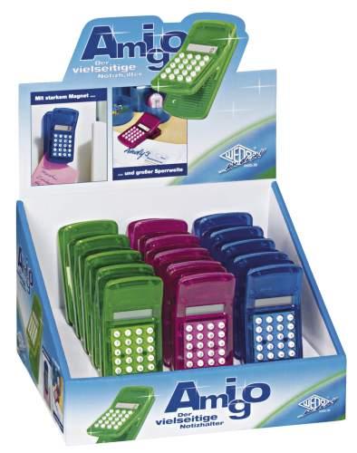 #15xMagnetklemmer Rechner Amigo farbig sortiert