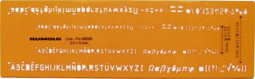 Schriftschablone 3.5+5mm