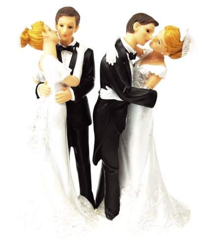#2xDekofigur Brautpaar sort.