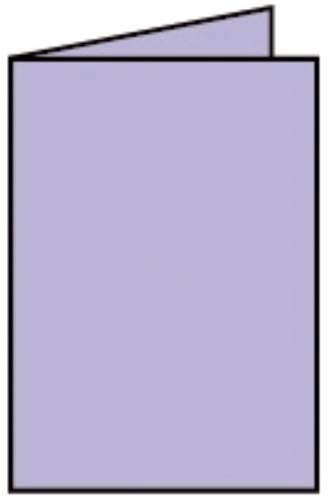 Briefkarte A6 HD 5ST lavendel