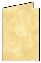 Briefkarte A6 HD 5ST sandgelb