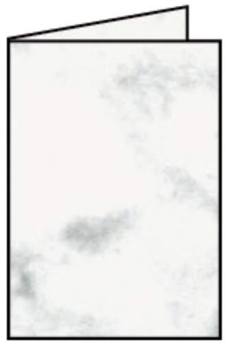 Briefkarte B6 HD 5ST w.grau