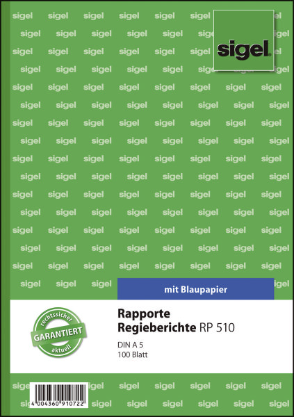 SIGEL Rapport A5 100BL