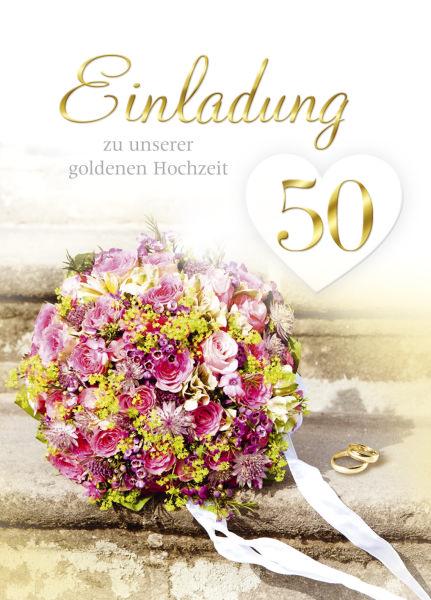 Goldhochzeitseinladung 5ST