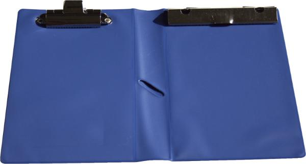 Kassenblockhülle Blau