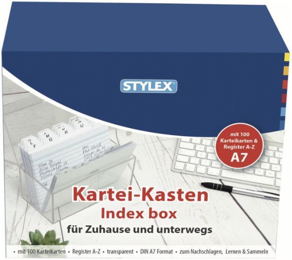 STYLEX Karteikasten Plastik transp.A7