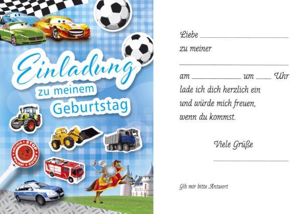 Einladungskarte Kindergeburtstag 5ST