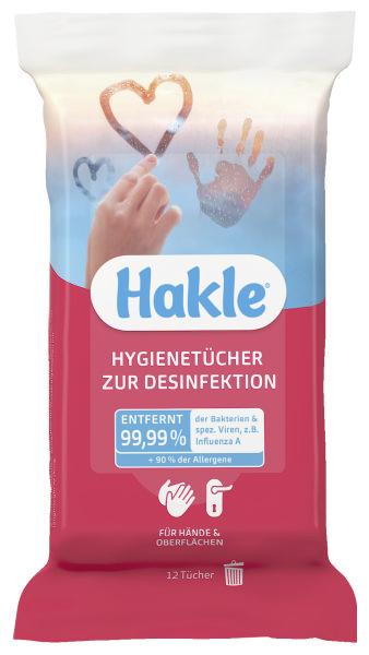 HAKLE Feuchttuch zur Desinfektion 12 Stück