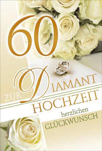 #5xDiamantene Hochzeitskarte
