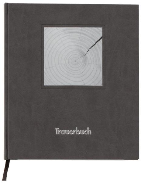Kondolenzbuch 288 Seiten Kunstleder Schwarz