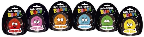 #12xBUDDYS Anti-Stress-Ball Buddys Mini sort.
