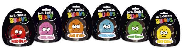 #12xBUDDYS Anti-Stress-Ball Buddys sort.