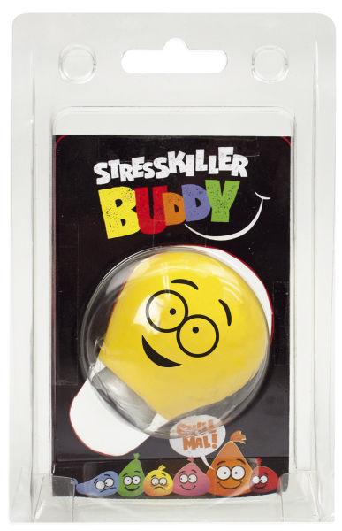 #12xBUDDYS Quetschball Buddys Glühbirne gelb