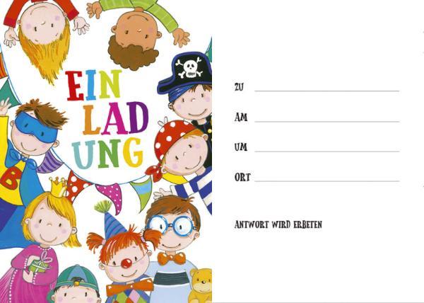 Einladungskarte Kinder 8ST