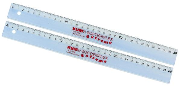 Lineal Softie Flex 30 cm sort.   L03
