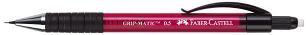 FABER-CASTELL Druckbleistift GRIP MATIC 1375, rot