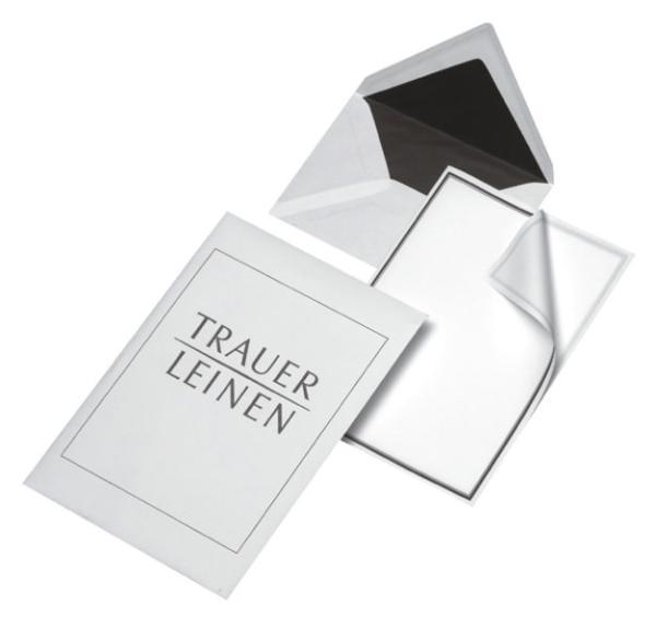MAILmedia Trauer-Briefpapier, inkl. Briefumschlag