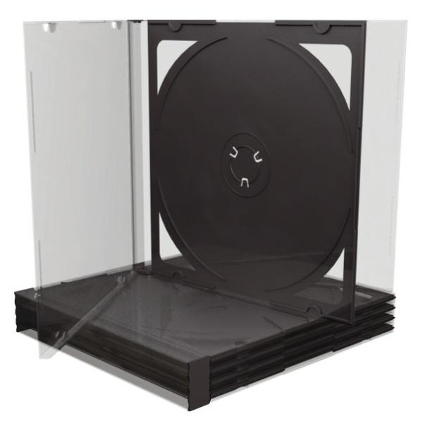 MEDIARANGE CD Hüllen Standard 5ST schwarz