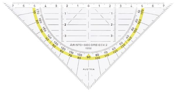 Geo-Dreieck Aristo 1552 M Facette Hypotenuse 160Mm