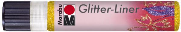 Marabu Glitzerfarbe Glitter-Liner, glitter-gelb, 25 ml