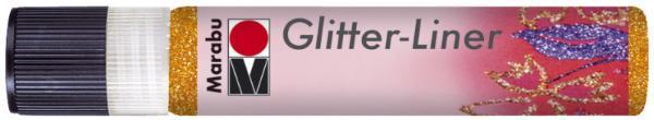Marabu Glitzerfarbe Glitter-Liner, glitter-mandarine,2...