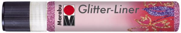 Marabu Glitzerfarbe Glitter-Liner, glitter-rosa, 25 ml