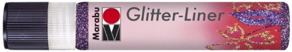 Marabu Glitzerfarbe Glitter-Liner, glitter-amethystblau