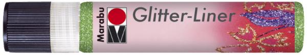 Marabu Glitzerfarbe Glitter-Liner, glitter-kiwigrün, 2...