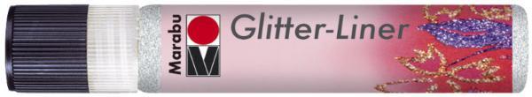 Marabu Glitzerfarbe Glitter-Liner, glitter-weiß, 25 ml