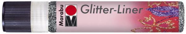 Marabu Glitzerfarbe Glitter-Liner, glitter-graphit, 25 ml