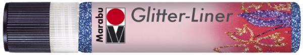 Marabu Glitzerfarbe Glitter-Liner, glitter-saphir, 25 ml