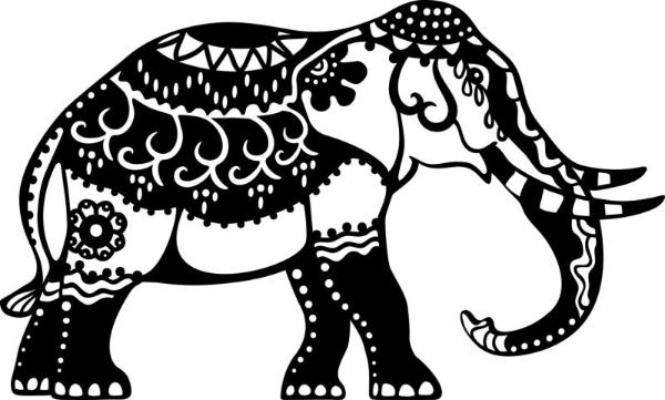 MARABU Schablone Indian Elephant
